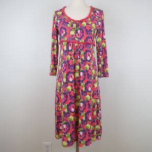 Boden | Pink Floral Long Sleeves Knit Dress C5